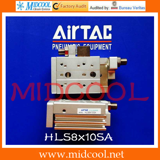 Original AirTAC Compact slide cylinder(Roller bearing) HLS Series HLS8x10SA original airtac compact cylinder ace series ace100x30