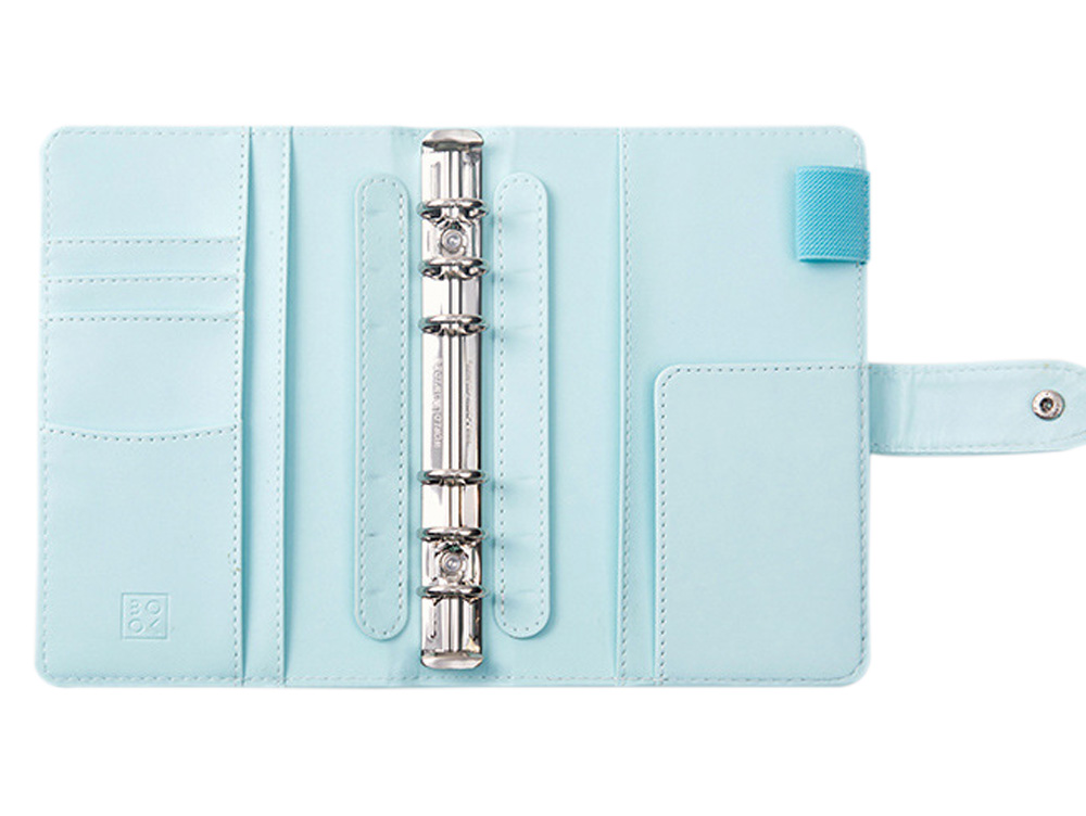 ᐃ2017 moda lindo A5 planificador organizador menta, botón pu cuero ...