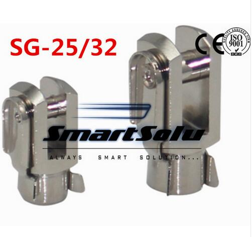 Free Shipping 5pcs/lots SG-25/32 M10X1.25 ISO6431 cylinder attachment, Y type joint, U joints, Y free shipping 5pcs lots sg 160 200 iso6431 cylinder attachment y type joint u joints y