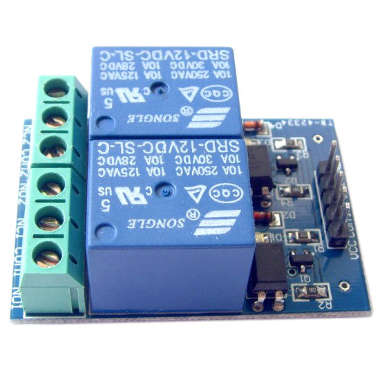 12V 10A 2 two channel relay module optocoupler isolated EL817