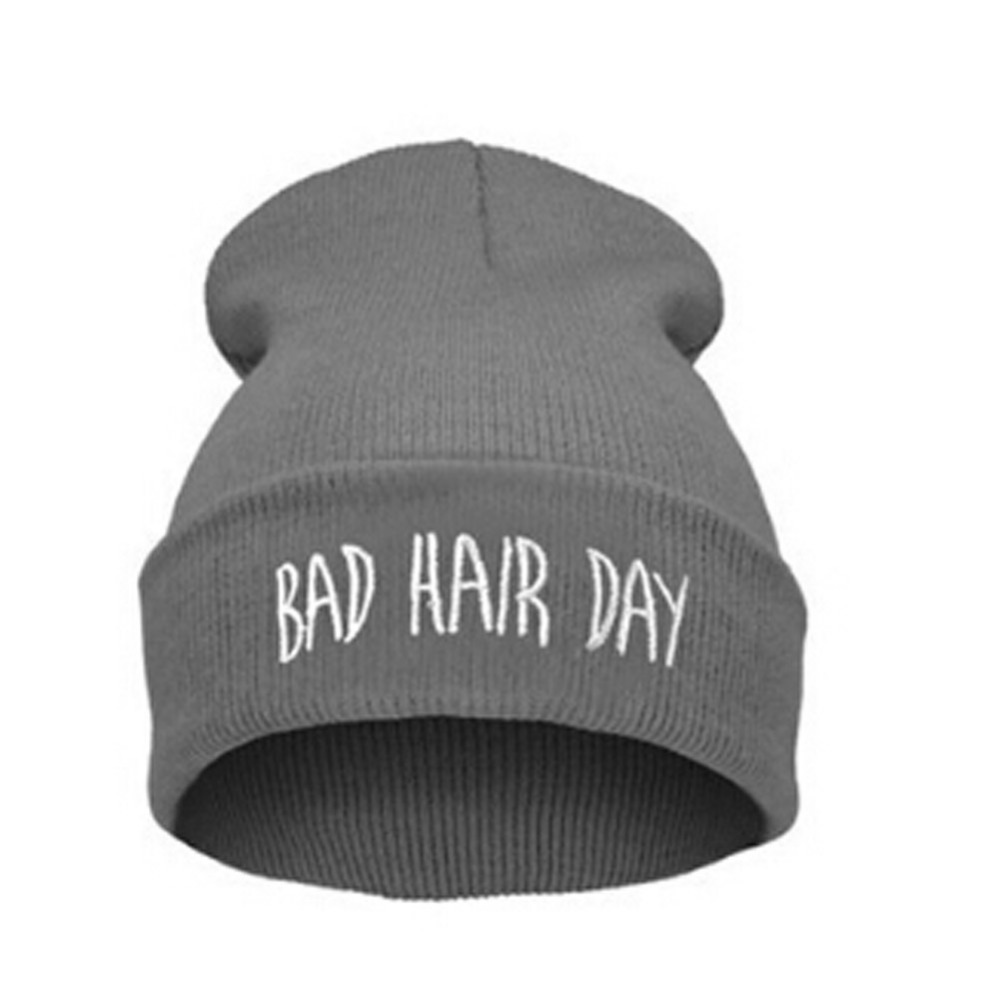 Winter And Autumn Bad Hair Day Beanie Cap Hats For Women Men Fashion Hip Hop Knit Skullies Bonnet Gorro Feminino Inverno