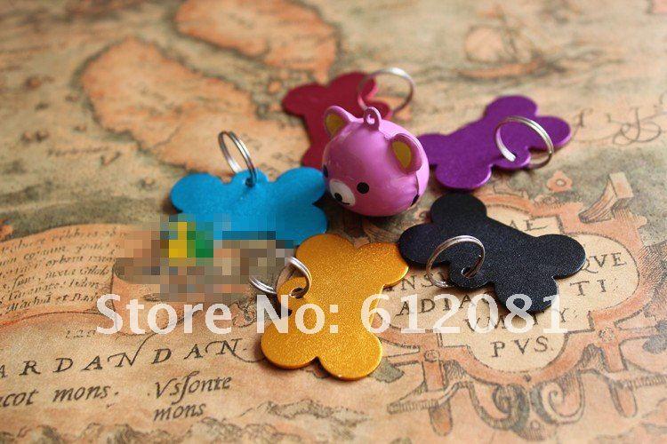 Большой кости / в форме сердца / раунд / бабочка ID тегов пользовательских выгравированы собаки персонализированные глинозема пять цветов четыре стиля