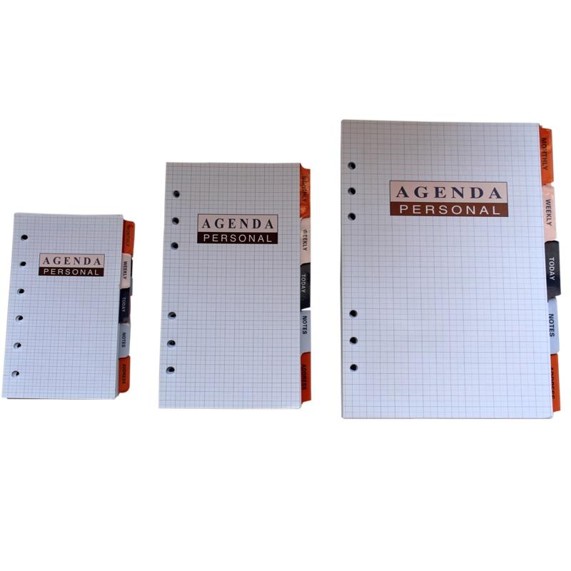 Professional Planner Paper, Business Executive A5 A6 A7 Spiral Agenda Paper Filofax Refills Beige White
