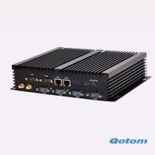 2016 новое ядро I3-4010U безвентиляторный промышленный компьютер 6 RS232 lan linux ubuntu мини-пк win 10 микро шт