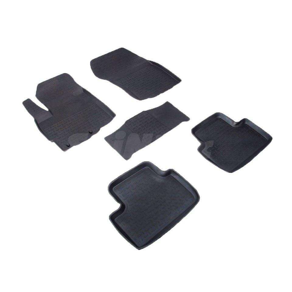 For Mitsubishi ASX 2010-2019 rubber floor mats into saloon 5 pcs/set Seintex 82186 for opel astra j 2009 2017 rubber floor mats into saloon 5 pcs set seintex 01443
