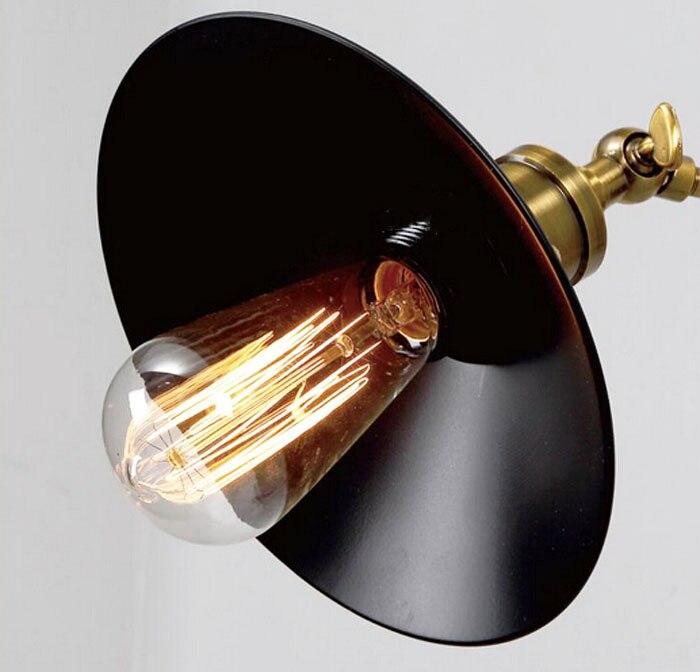 ZX industrielle rétro fer applique E27 vis ampoule rotation Joint diamètre 22 cm lumières chambre couloir Lamp110V/220 V livraison gratuite - 2