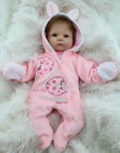 17″ Lifelike Silicone Baby Alive Real Look Girl Dolls Handmade Stuffed Toys for Kids Gift Women Collect