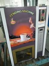 Coin acceptor Coffee vending machine 7 Hot Premixed Drinks and one hot water and one cold water