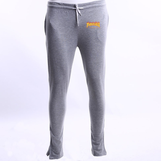 New thrasher letters Flame mens Slim pants yeezus Europe and the United States street Harlan thrasher pants Joggers Sweatpants