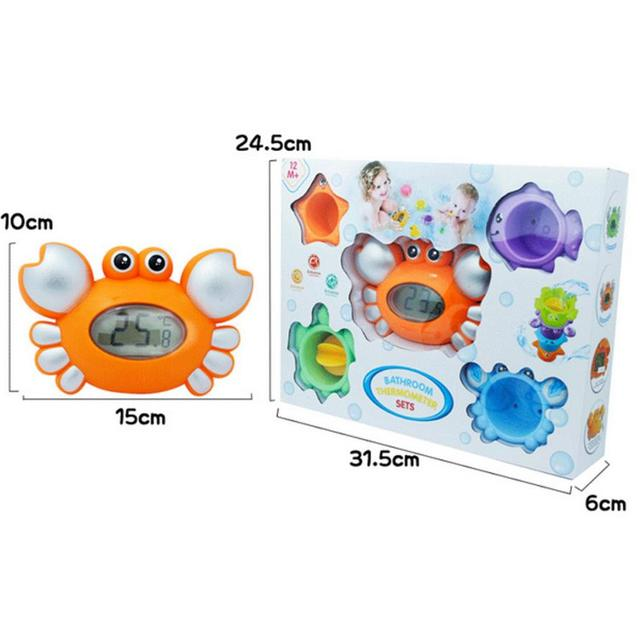 2017 Bathing toy Water temperature gauge baby cartoon newborn bath toy electronic thermometer shower products for children float