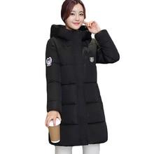 Корейский Стиль Парки 2016 Новый Женщины Толстый Зимнее пальто С Капюшоном большой Размер Длинные Slim Down Хлопка Ватник Пальто Женщин LH408