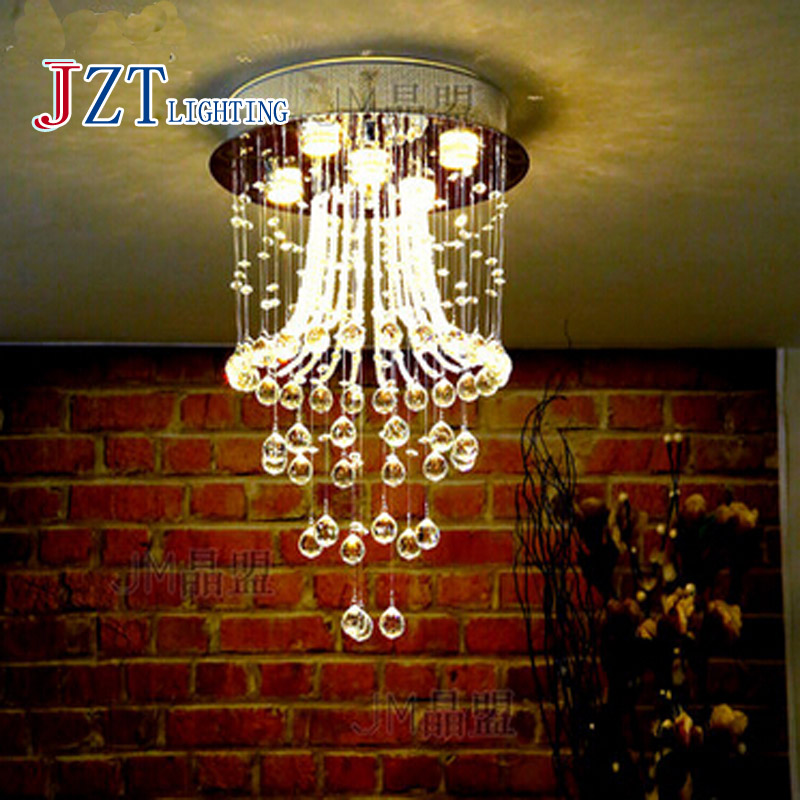 T Best Price Modern Lustre Crystal Aisle Lights Circular Dining-room Lamp With LED Bulb for Study Room Bedroom Modern&Artistical t best price modern lustre rectangular crystal chandeliers for dining room pandent lamp with led bulbs for entrance aisle