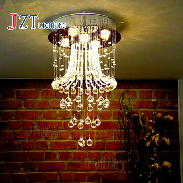 T Best Price Modern Lustre Crystal Aisle Lights Circular Dining-room Lamp With LED Bulb for Study Room Bedroom Modern&Artistical