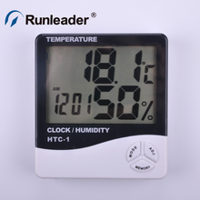 Discount! Digital LCD Thermometer Hygrometer Electronic Temperature Humidity Meter Weather Station Indoor Outdoor Tester Alarm Clock