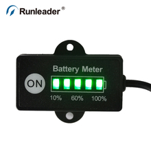 12V 24V Battery Tester indicator for LEV electric bicycles golf carts forklift cleaning vehicle drills saws mowers