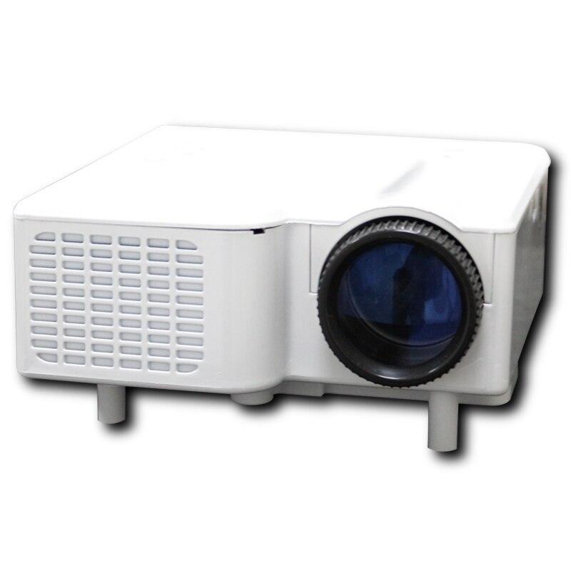 "Poner Saund Free shipping LED Projector Mini LED Projector Portable Proyector support HDMI VGA AV USB SD Speaker 18''-60"" Displa"