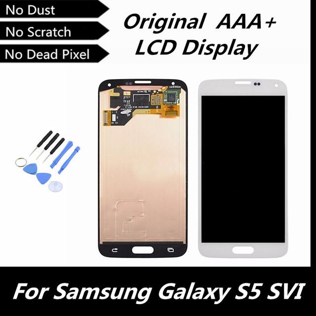 100% testado boa tela de LCD tela de toque parte substituição para Samsung Galaxy i9600 S5 G900R G900F G900H G900M G9001 conserto