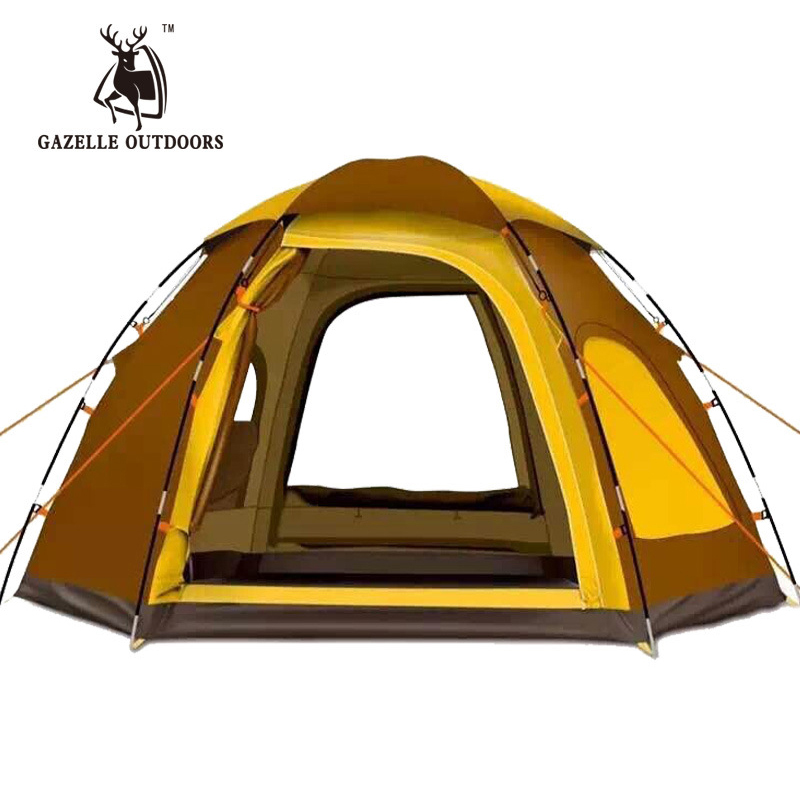 Automatic Outdoor 5-6 Persons Large Camping Tent Waterproof Family Fishing Picnic Tente De Uv Pop Up Awning Bivvy Tarp Shelter octagonal outdoor camping tent large space family tent 5 8 persons waterproof awning shelter beach party tent double door tents