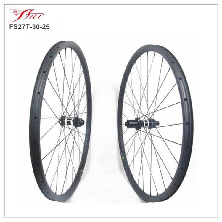 Disk fren parça 27er karbon kattığı mtb bisiklet tekerlekleri 30mm genişlik kancasız  Farsports profesyonel tekerlekler Çin tedarikçisi Bisiklet Tekerleği Spor ve Eğlence -