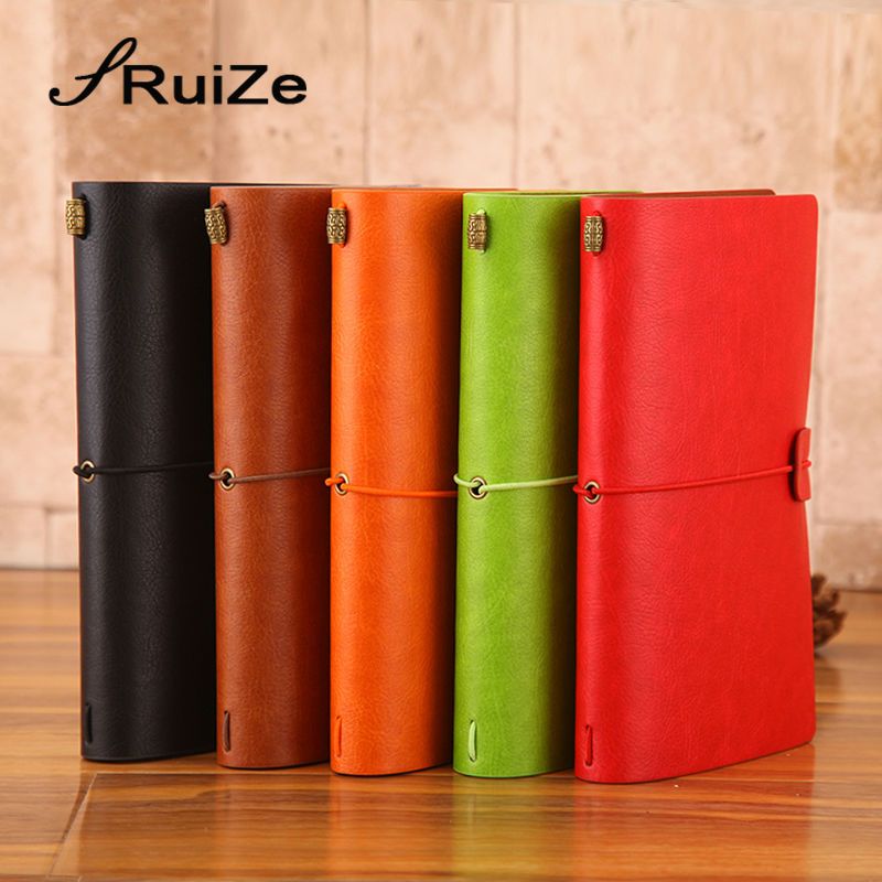RuiZe 2017 soft cover leather traveler notebook A6 travel journal handmade vintage sketchbook note book with three kinds paper sosw fashion anime theme death note cosplay notebook new school large writing journal 20 5cm 14 5cm
