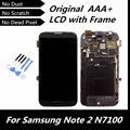 100% Tested High Quality Original LCD for Galaxy Note2 GT-N7100 Cellphone LCD + Touch Screen Digitizer with Assembly Frame
