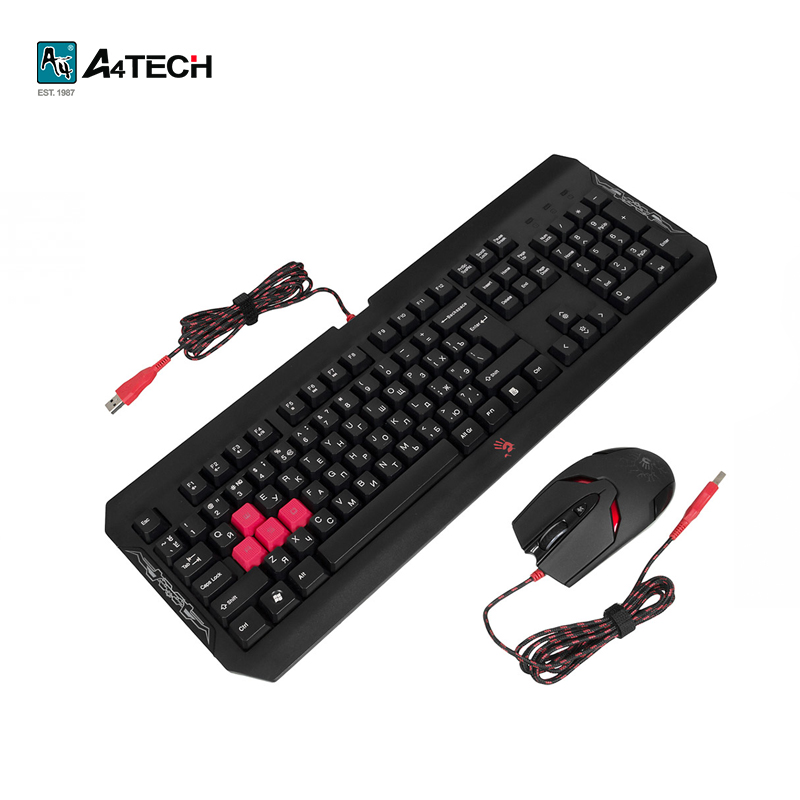 Keyboard + Mouse A4Tech Bloody Q1100 Officeacc gaming keyboard a4tech bloody b254 officeacc