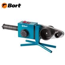 Аппарат для сварки труб Bort BRS-2000 (Мощность 1500 Вт, размеров труб (20/25/32/40/50/63 мм, настройка температуры, стальной кейс)