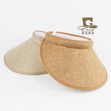 2016 new fashion Casual Adjustable Sun Visor Hat outdoor beach empty top summer hat natural hemp Baseball Tennis topless