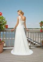 elengant стильный бисероплетение империя, складки на молнии шифон одно плечо свадебные платья