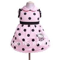 девочка платье детское платье платье с рукавами, дети летней одежды. бесплатная доставка 2 цвет