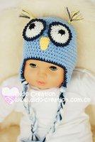 """1 pcholiday h05c035c1 ручной работы вязка крючком малыша дети laden в Рио шляпа SAP хлопок размер 16 """" - 20, 5"""