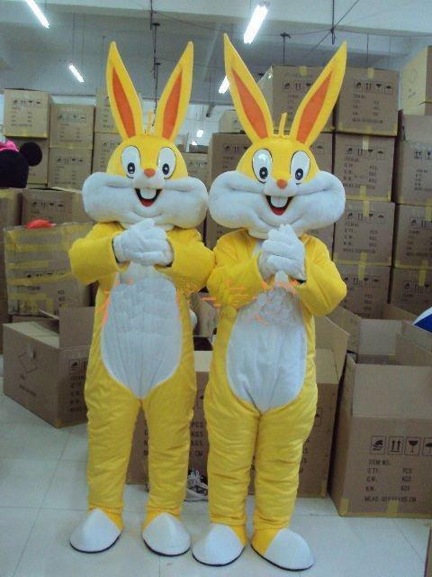 Недорогое Платье с кроликом для взрослых, мультяшный талисман, костюм