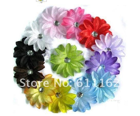 200 шт лилии цветок волос Детские волосы украшают цветок лилии волос бант для волос для девочек