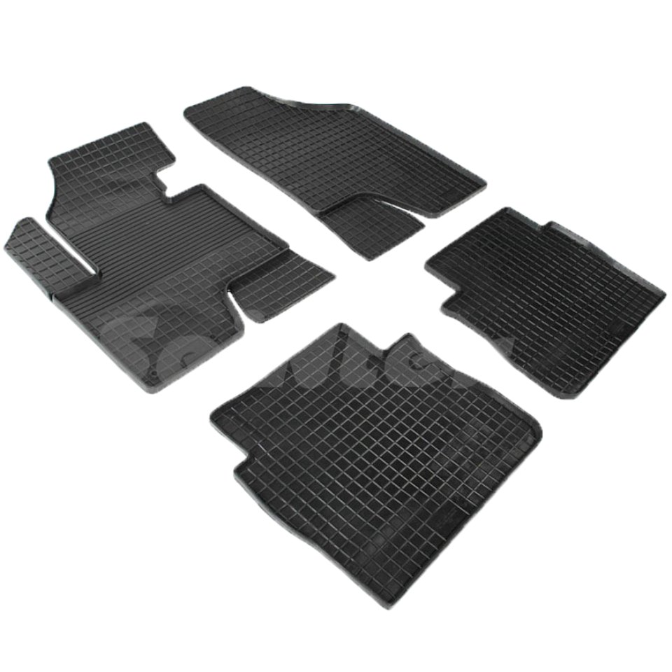 цена на Rubber grid floor mats for Hyundai Santa Fe II Restyling 2010 2011 2012 Seintex 82015