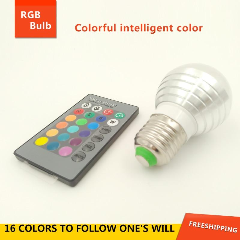 Aliexpress com   Buy NEW 3W RGB Lampada LED Bulb 110V 220V RGB LED Lamp Spotlight Lamparas LED     -> Lampada Led Rgb