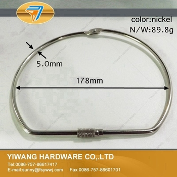 Good quality China factory direct nickel plating hanging ring 10pcs/package screw lock ring D-shape ring