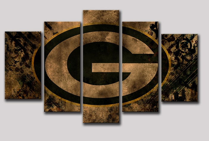 Green Bay Packers Printed Canvas Wall Art Home Decor
