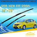 "Escovas para honda fit (2008-) 2009 2010 2011 2012 2013 2014 Car Windscreen Windshield Wiper Wiper Blade 26 ""+ 14"" acessórios"