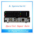2pc/lot Full Channels Softwares Zgemma Star H2 FTA Satellite Receiver With Original Linux OS Enigma2 DVB-S2+T2/C Twin Sat Tuners