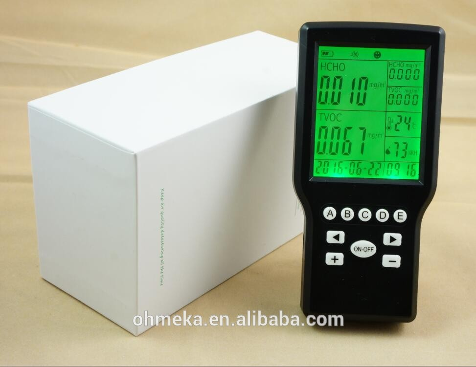 Indoor air quality monitors/gas detector system, Formaldehyde(CH2O) sensor, TVOC pollution counter formaldehyde testing pollution monitoring gas leak detector