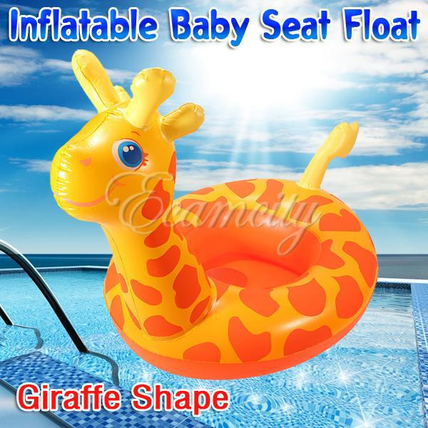 Free Shipping New Giraffe Shape Baby Child Kids Inflatable Floating Swimming  Pool Raft Chair Seat Float