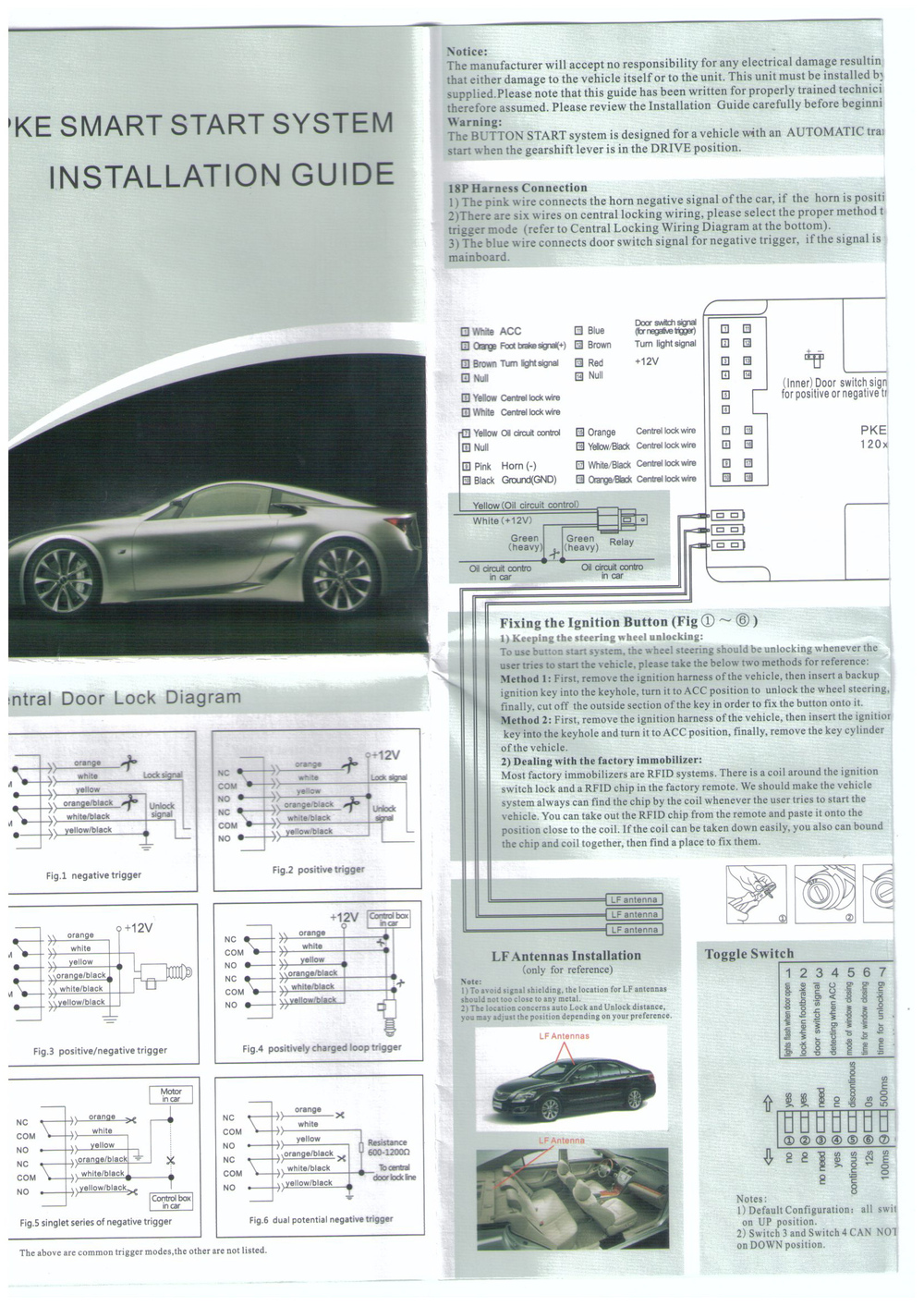 Free Shipping Pg N003a Complete Auto Car Passive Keyless Entry Pke Cr Z Wiring Diagram N003 2