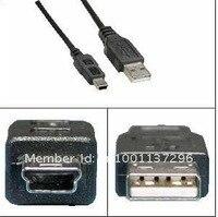 бесплатная доставка самый дешевый УСБ кабель, 2тf кабель 5pin мини-Б к с USB 2.0 кабель МР3-МР4 камера 100 шт./лот