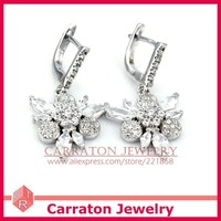 carraton ssqd9001 цветок формы женщины стерлингового серебра 925 ювелирные наборы ГБО wade комплект