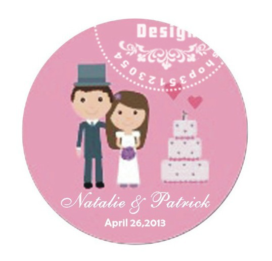 50pcs Lot 3cm Diameter Customize Wedding Gift Labels Custom Stickers Wrers Seal Label Favor