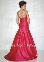 сексуальное красный русалка тафта бусины и блестки без бретелек узелок свадебное платье конкурс мяч размер бесплатная доставка оптовая продажа