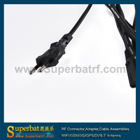 только ес 2-зубец цифровая камера шнур питания кабель ведущий 2 контакт 1.5 м 2.5 а/250 в