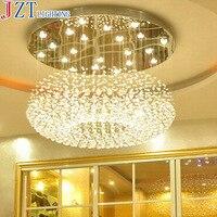 М LED хрустальный потолок лампа Спальня свет творческий ресторан Messenger Провода современный двойной круговой Лампы для мотоциклов и Фонари