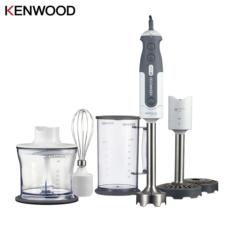 Blender Kenwood 0W22111013 (HDP404WH) electric kitchen hand mixer immersion submersible juice with whisk with chopper stainless steel hand wheat grass juicers manual auger slow juice fruit wheatgrass vegetable orange juice extractor machine
