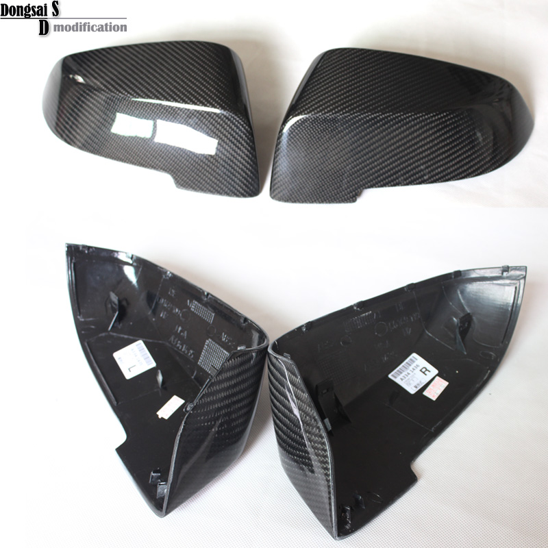 цена на Replacement car styling carbon fiber ABS rear side door mirror cover for BMW 5 series F10 GT F07 lCI 2014+ 523i 528i 535i